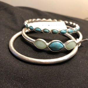 Set of three bracelets.